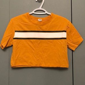 Yellow crop top from garage
